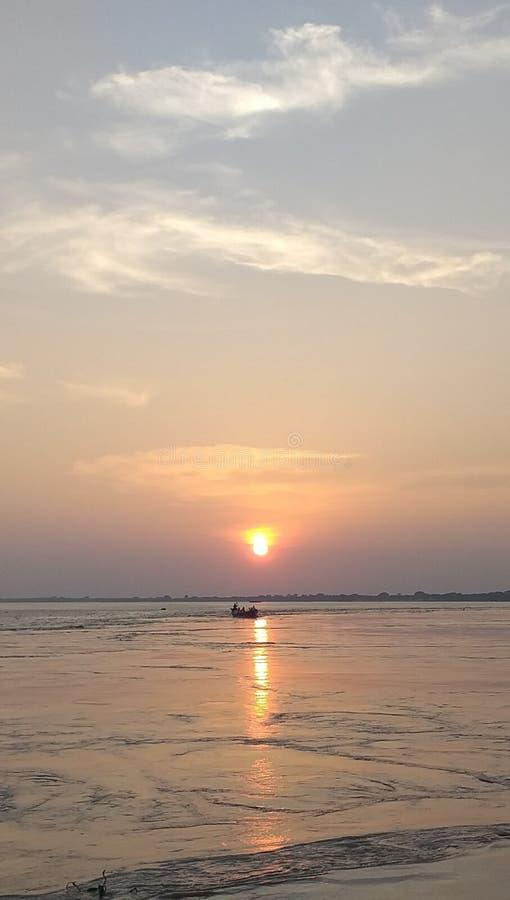 River in bangladish so beautifull. A both of podma. River of podma royalty free stock photos