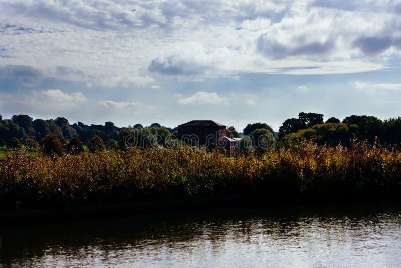 River bank in countryside stock photos