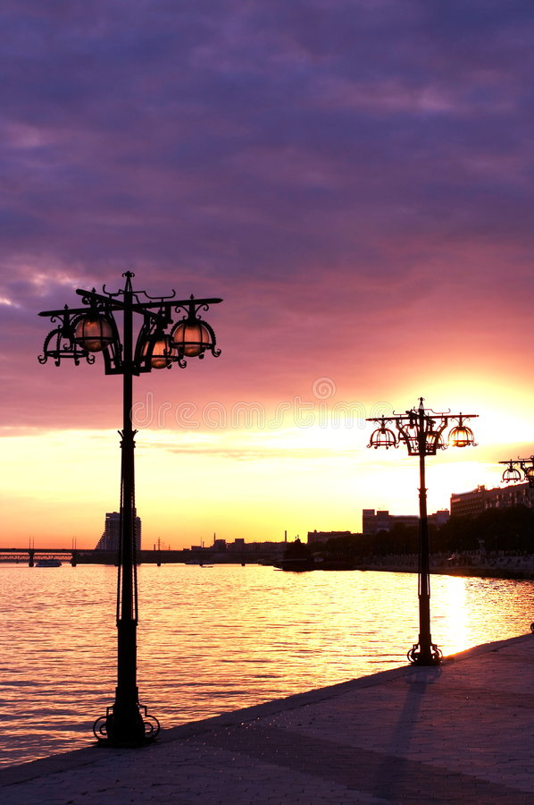 River bay stock photography