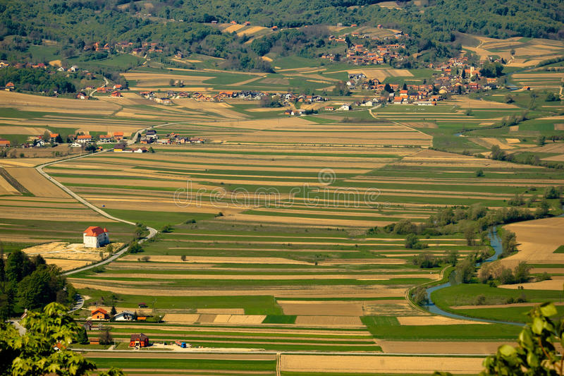 River Bednja valley, Zagorje, Croatia stock photography