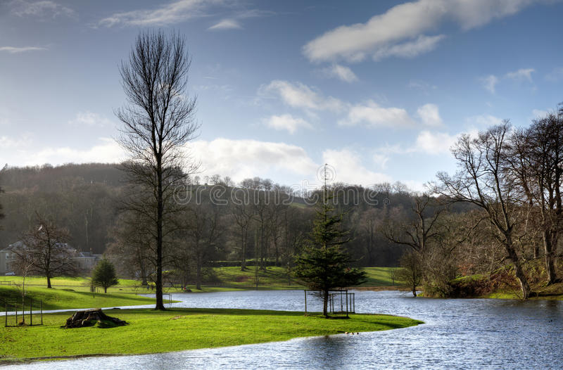 River Bela in Milnthorpe,Cumbria royalty free stock photo