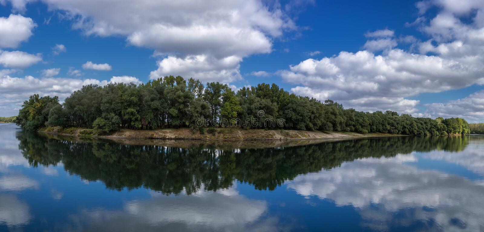 River bend. On river Dniester, Moldova royalty free stock photos