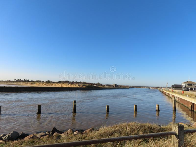 River Blyth Estuary. The river estuary between Southwold and Walberswick on the Suffolk Coast royalty free stock photos