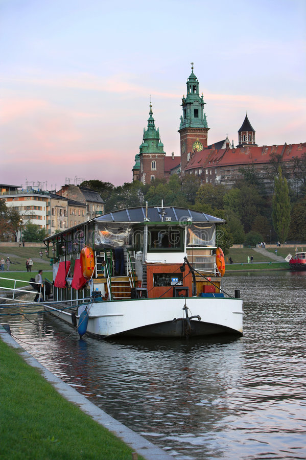 Download River boat stock image. Image of autumn, europe, stone - 1384127