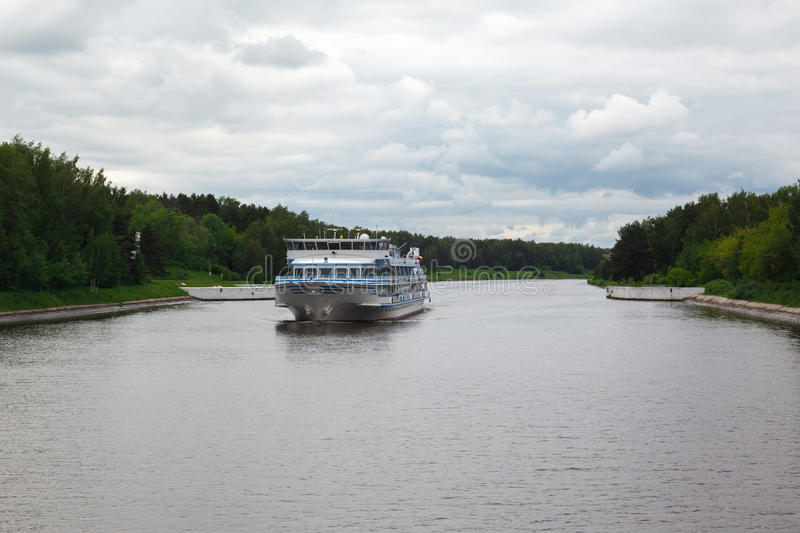 Download River Boat Cruise And River Moscow Canal Stock Photo - Image: 25355888