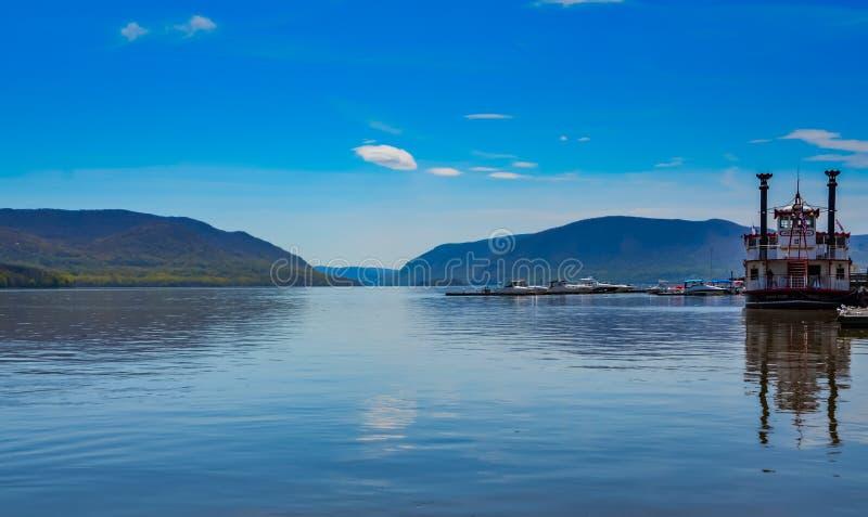 River Boat on the Hudson River - New York stock image