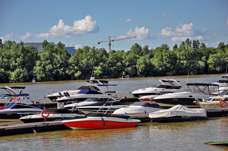 River boat marina royalty free stock images