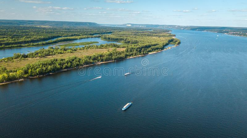 River with boats royalty free stock photos