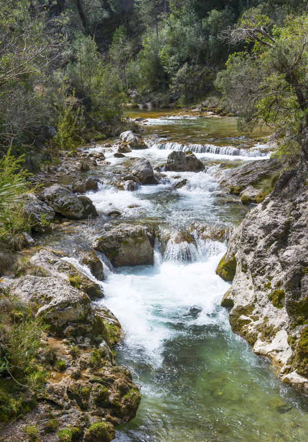 River Borosa Walking Trail in the Sierra Cazorla Mountains. River Borosa Walking Trail in the Sierra Cazorla Mountain Range, Jaen Province, Andalusia, Spain royalty free stock photo