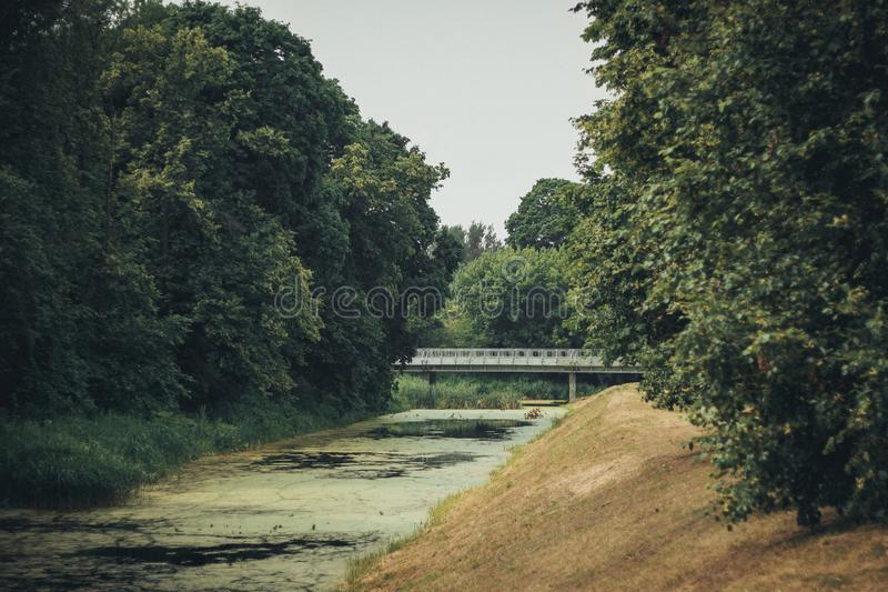 A river in a Brest park stock image