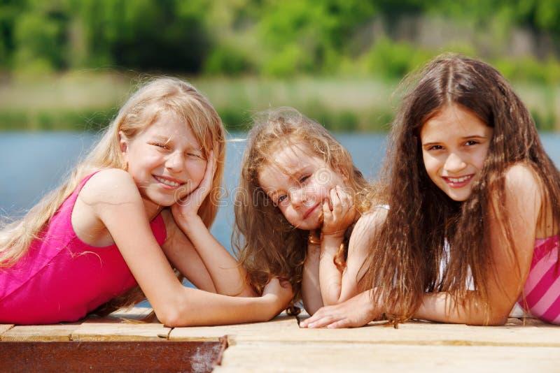 Download On  river bridge stock image. Image of preschooler, happy - 23589679