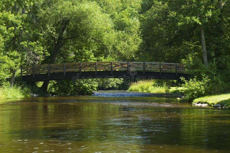 River & Bridge Scenic royalty free stock photo