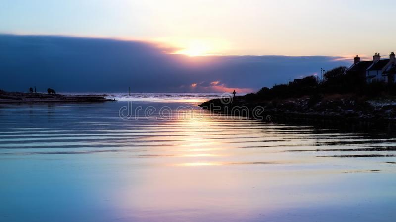 River Brora sunrise royalty free stock photography