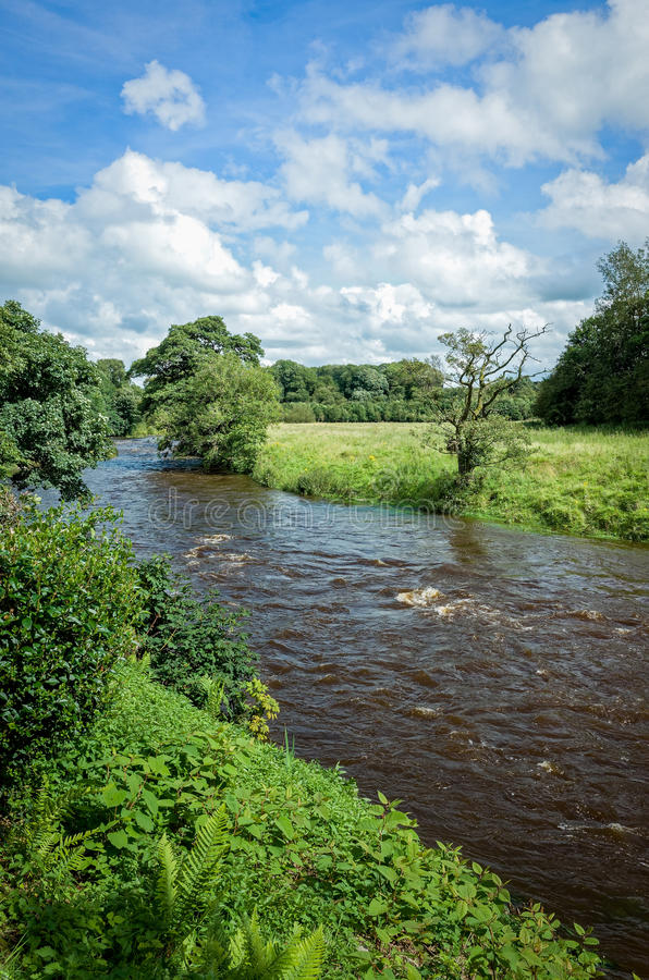 River Calder in Lancashire, England stock photography
