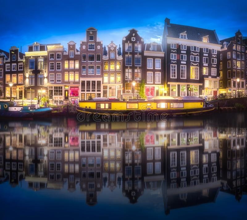 Download River, Canals And Traditional Old Houses Amsterdam Editorial Photography - Image of facade, architecture: 111138577