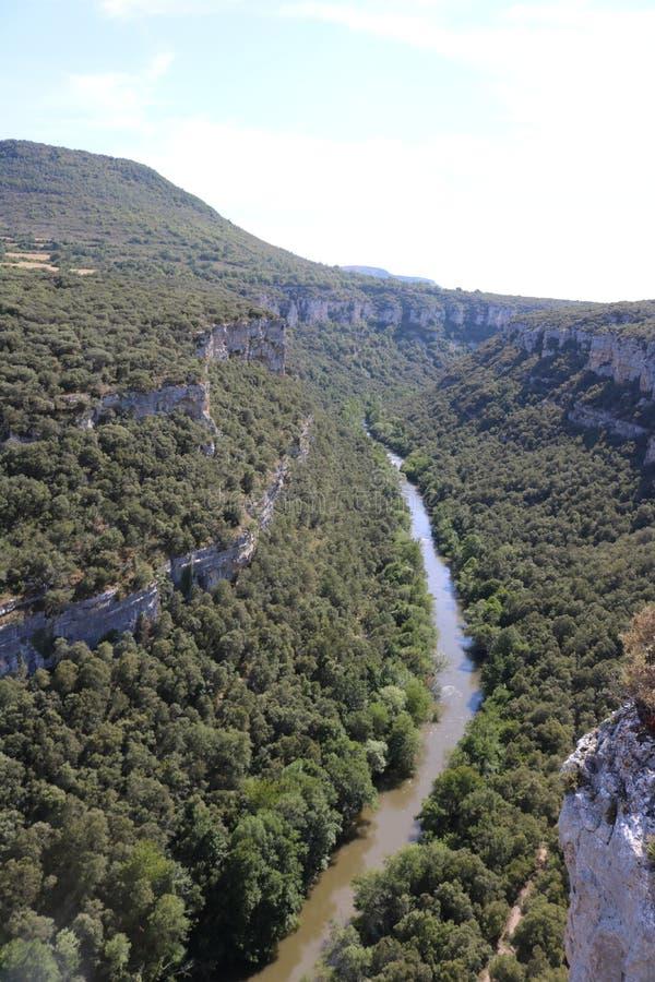 Ebro canyon, Castilla León, Spain stock images