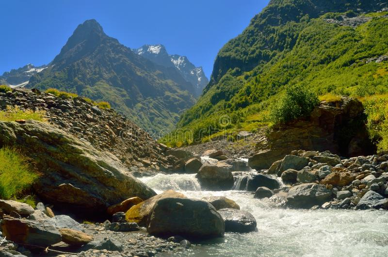Download River in Caucasus stock photo. Image of slope, beautiful - 33103124