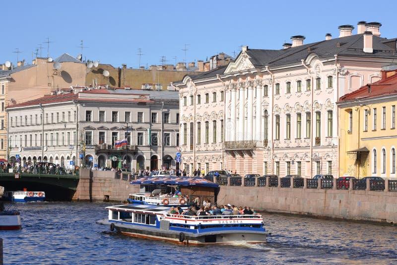 River channel in Saint-Petersburg