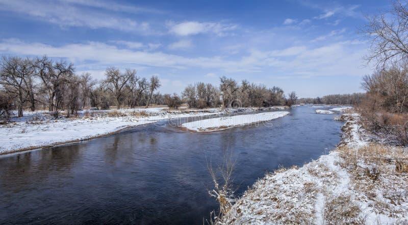 River in Colorado plains stock photos
