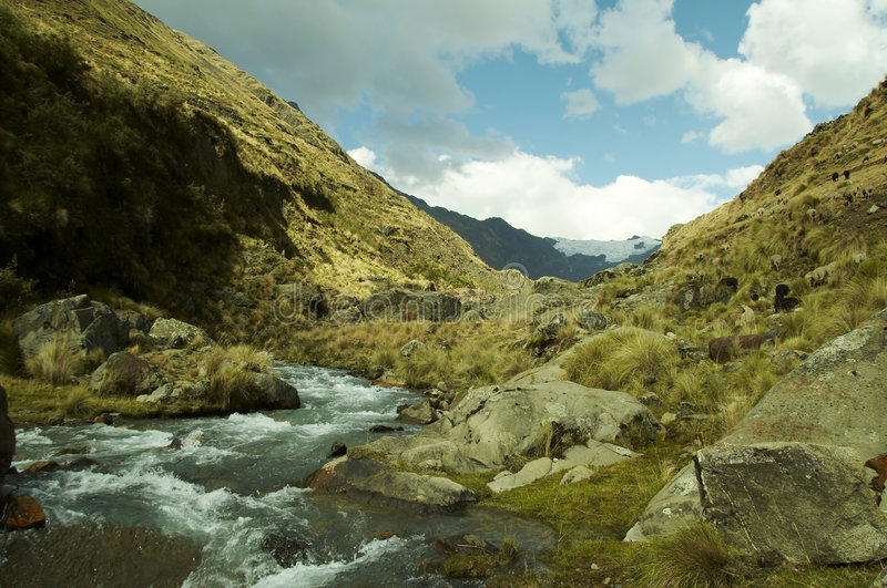 Download River In The Cordilleras Mountain Stock Image - Image: 1424471