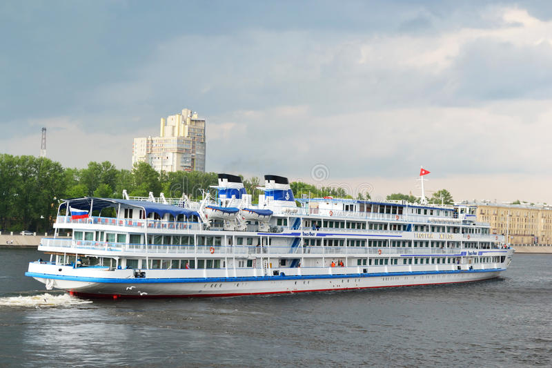 River Cruise Ship Sailing On The River Neva Editorial Photo