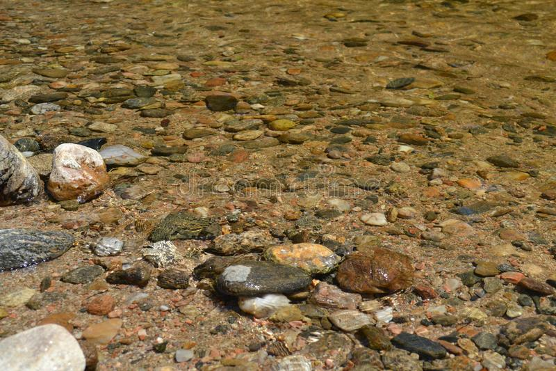 River of crystal clear water stock images
