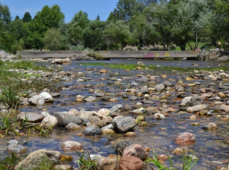 River of crystal clear water royalty free stock photo