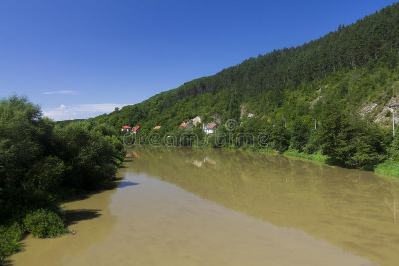 A river in the czech countryside stock image