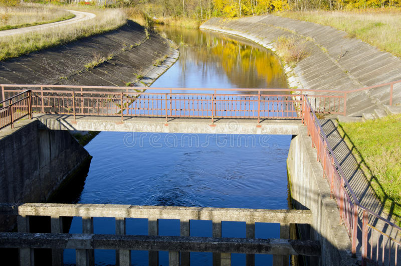 Download River Dam And Reflections On Water Background Stock Image - Image: 23204939