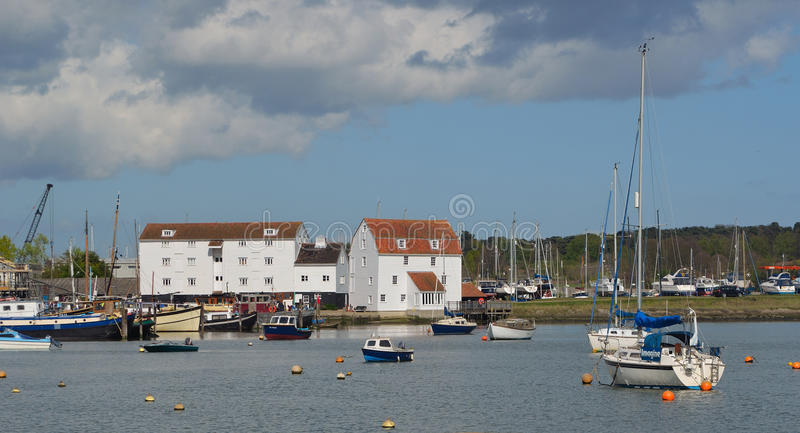 The River Deben at Woodbridge Quay royalty free stock photo