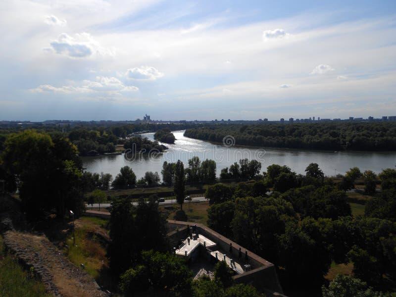 River delta Sava Danube stock photo