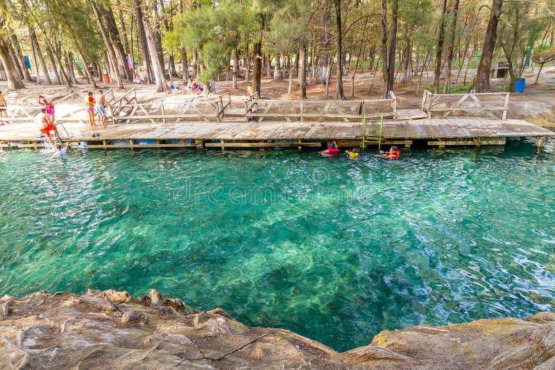 River Dock - La media luna National Park stock photography