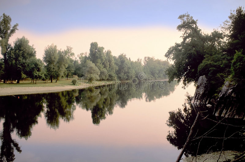 River dordogne royalty free stock photography