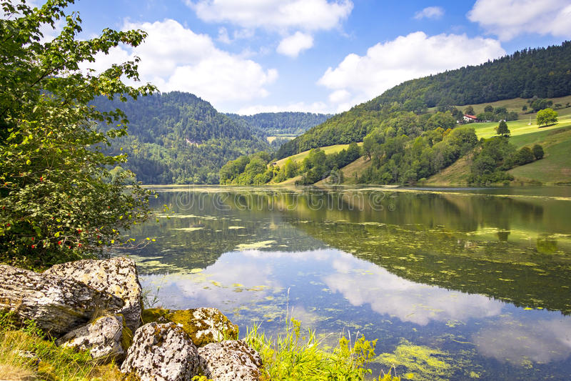 River Doubs stock image