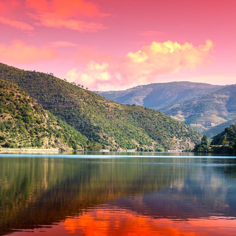 Free River Douro Region At Sunrise Stock Photography - 117994592