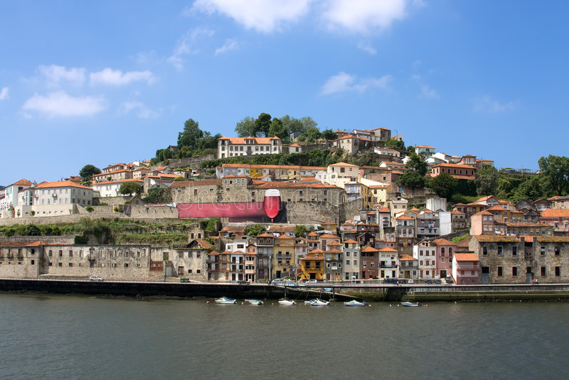 River Douru. Portugal river Douru in the city Porto royalty free stock image