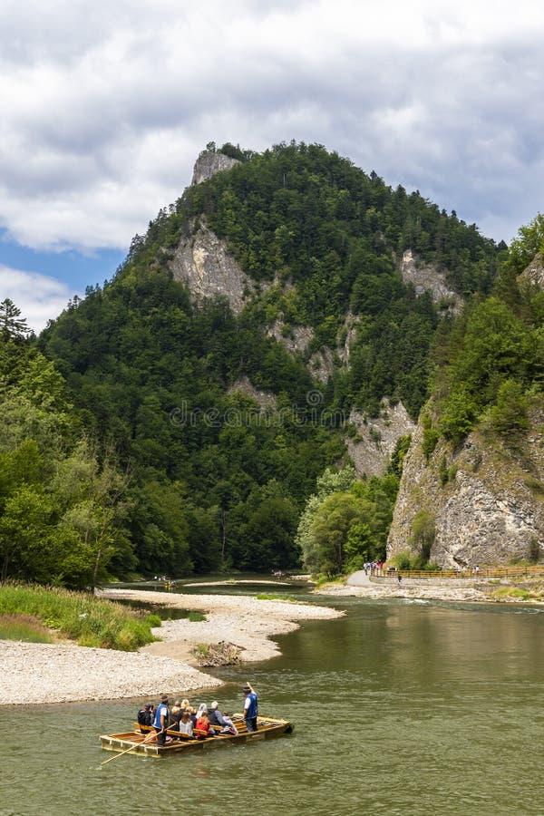 River Dunajec in the Pieniny Mountains on the border of Slovakia and Poland royalty free stock photo