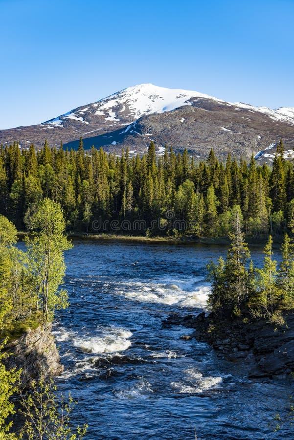 Free River Enan Jamtland Sweden Royalty Free Stock Image - 60497906