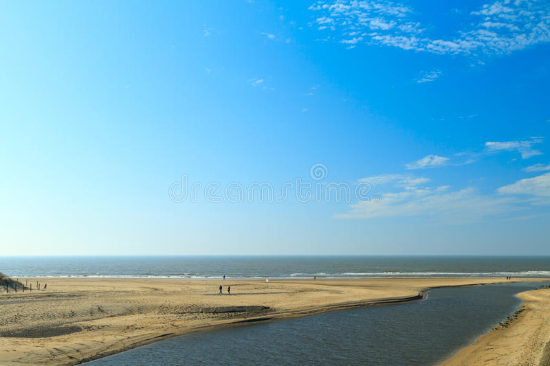 Download River Estuary Entering The Sea On The Dutch Coast Stock Photo - Image: 25886654