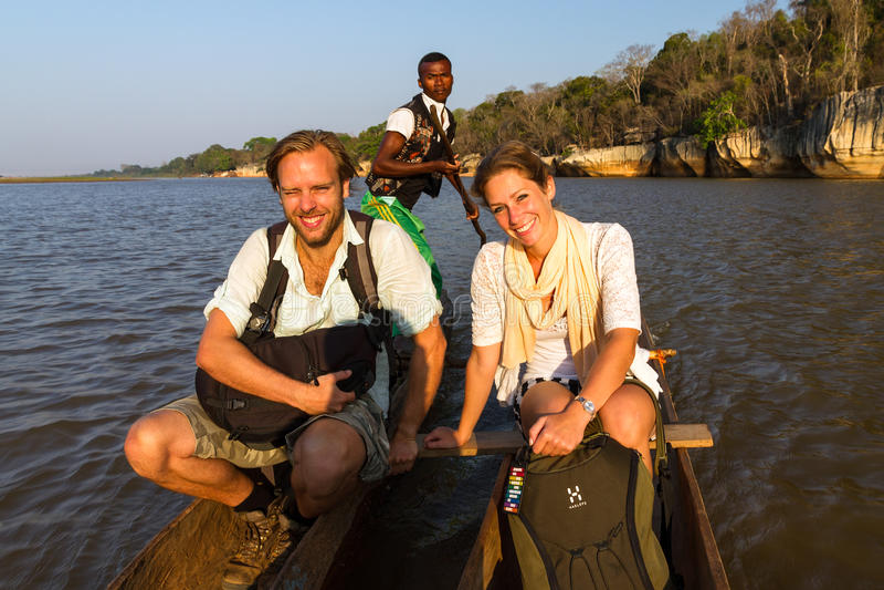 River excursion Tsingy stock photo