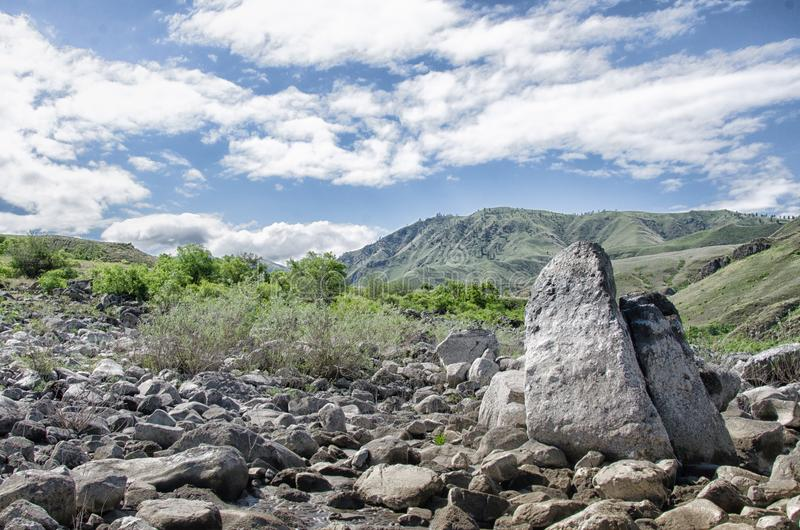 Butterfly rock on the Snake river royalty free stock images