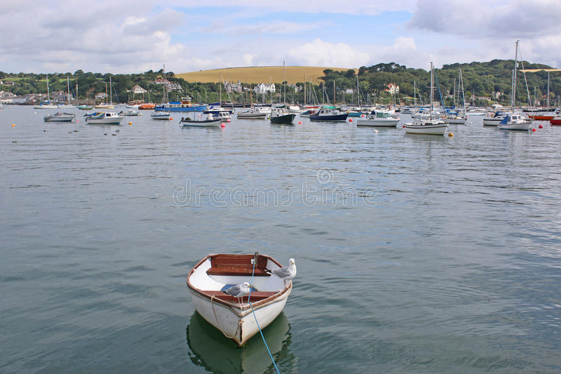 River Fal, Falmouth. Boats on the River Fal, Falmouth royalty free stock image