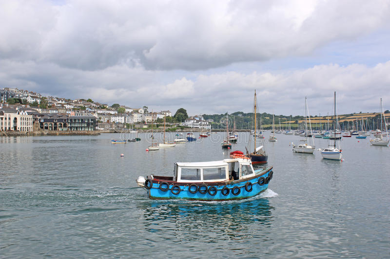 River Fal, Falmouth. Boats on the River Fal, Cornwall royalty free stock image