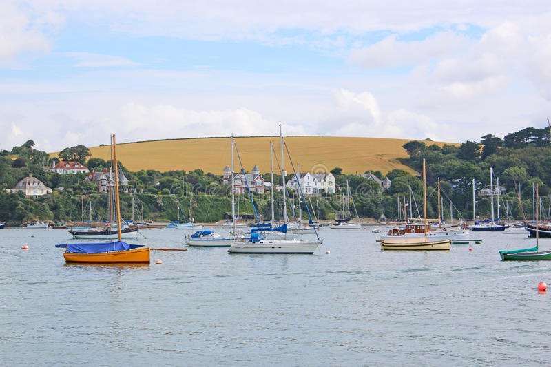 River Fal, Falmouth. Boats on the River Fal, Cornwall stock images