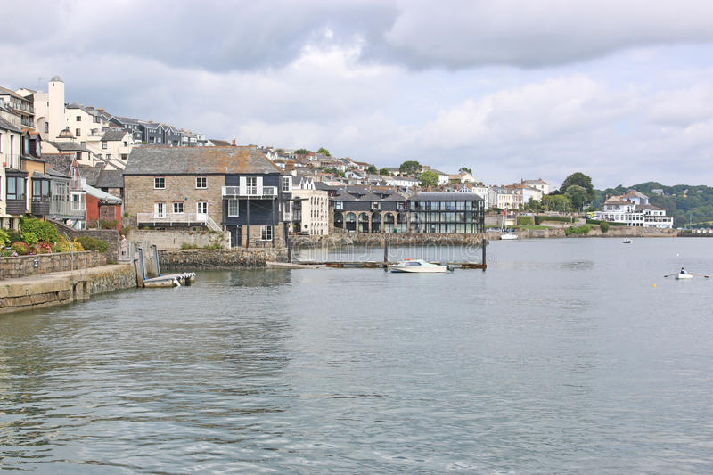 River Fal, Falmouth. Falmouth on the River Fal, Cornwall stock photo