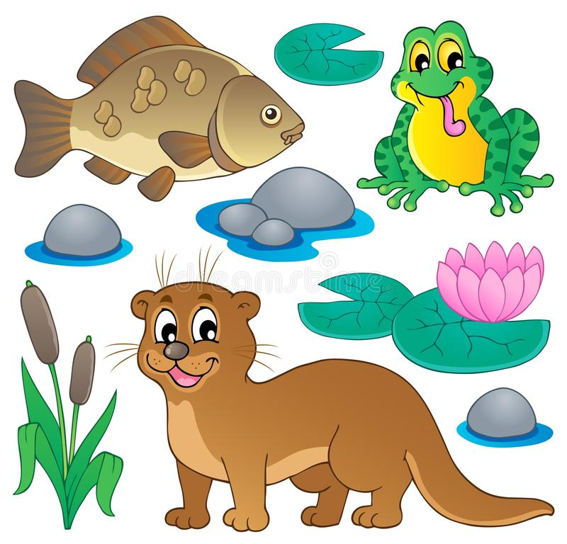Free River Fauna Collection 1 Royalty Free Stock Image - 28654096