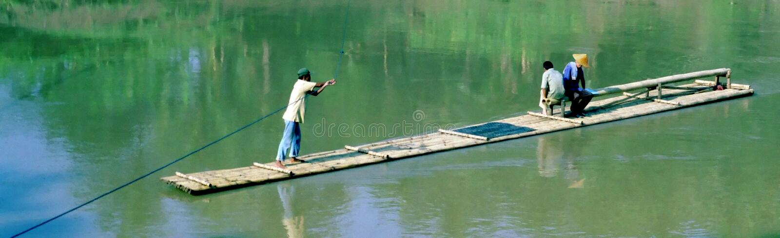 Download River Ferry Indonesia stock photo. Image of bamboo, indonesia - 2754196