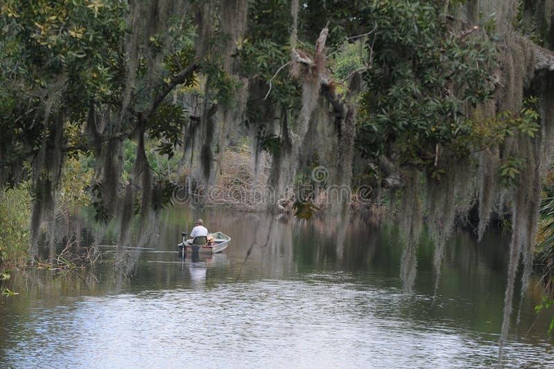 River fishing stock photo