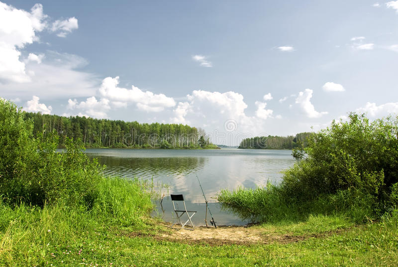 Download River Fishing place stock photo. Image of waiting, riverbank - 15122582