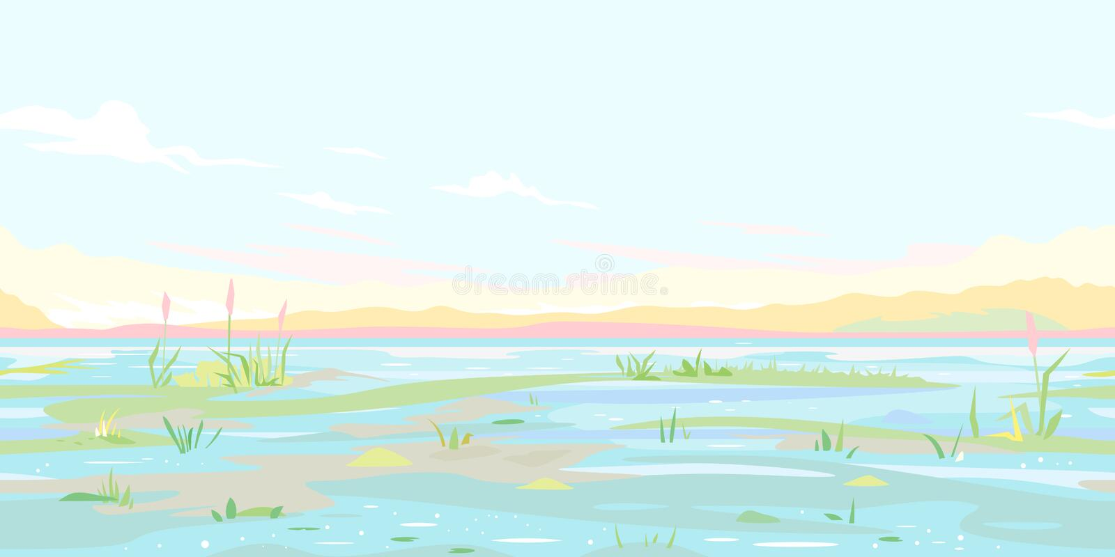 River Flood Waters Background stock illustration